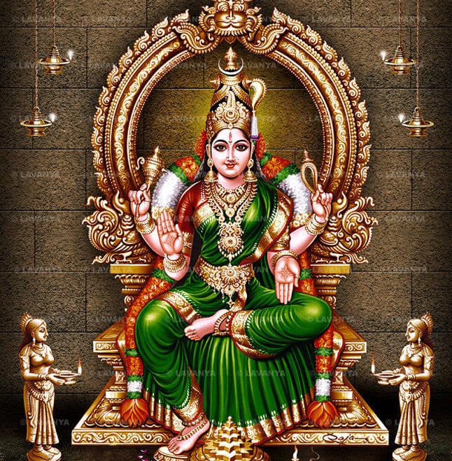 L'entusiasmante adorazione della Grande Forza Cosmica Bhuvaneshwari