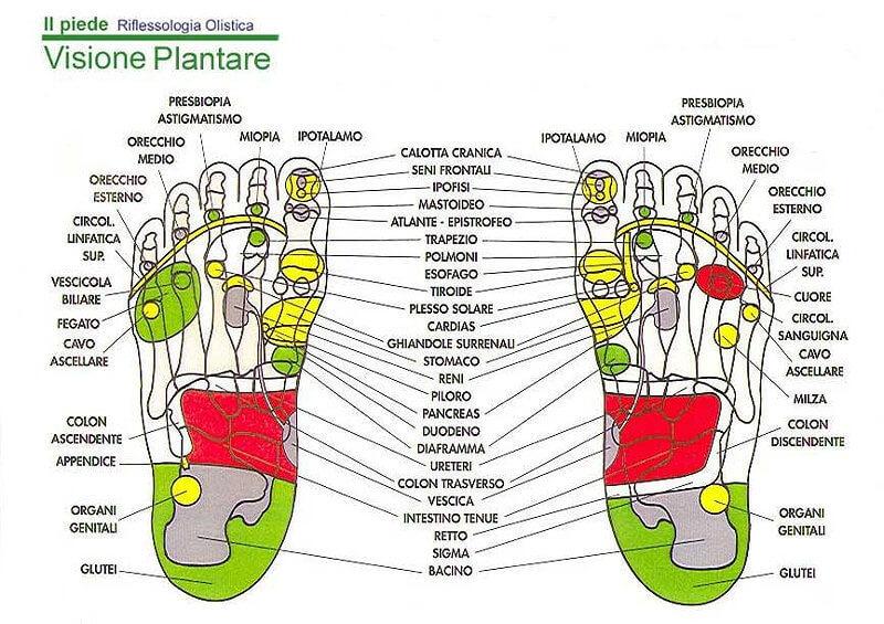 Riflessologia plantare al centro di yoga